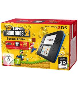 Nintendo 2DS Azul/Negra + New Super Mario Bros 2
