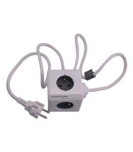 PowerCube 4 Tomas + 2 USB Azul Con Soporte