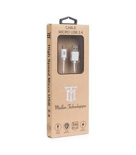 Cable Maillon USB 2.4 a Micro USB 1m White